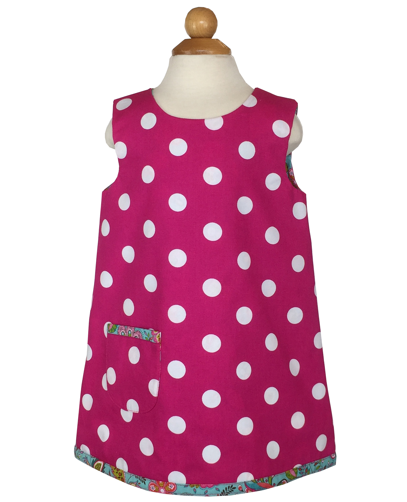 Reversible Pink Polka Dot Dress