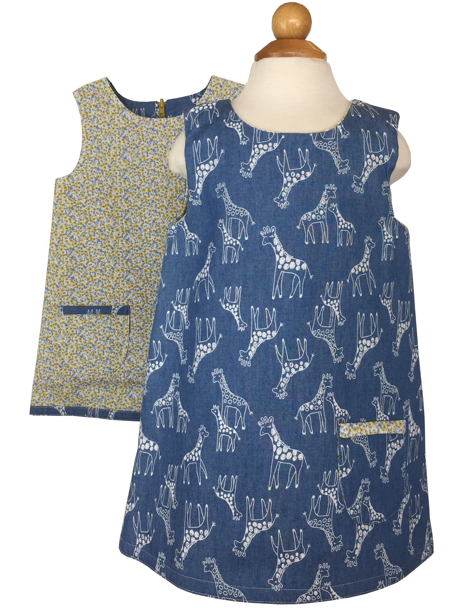 Reversible Giraffe Dress