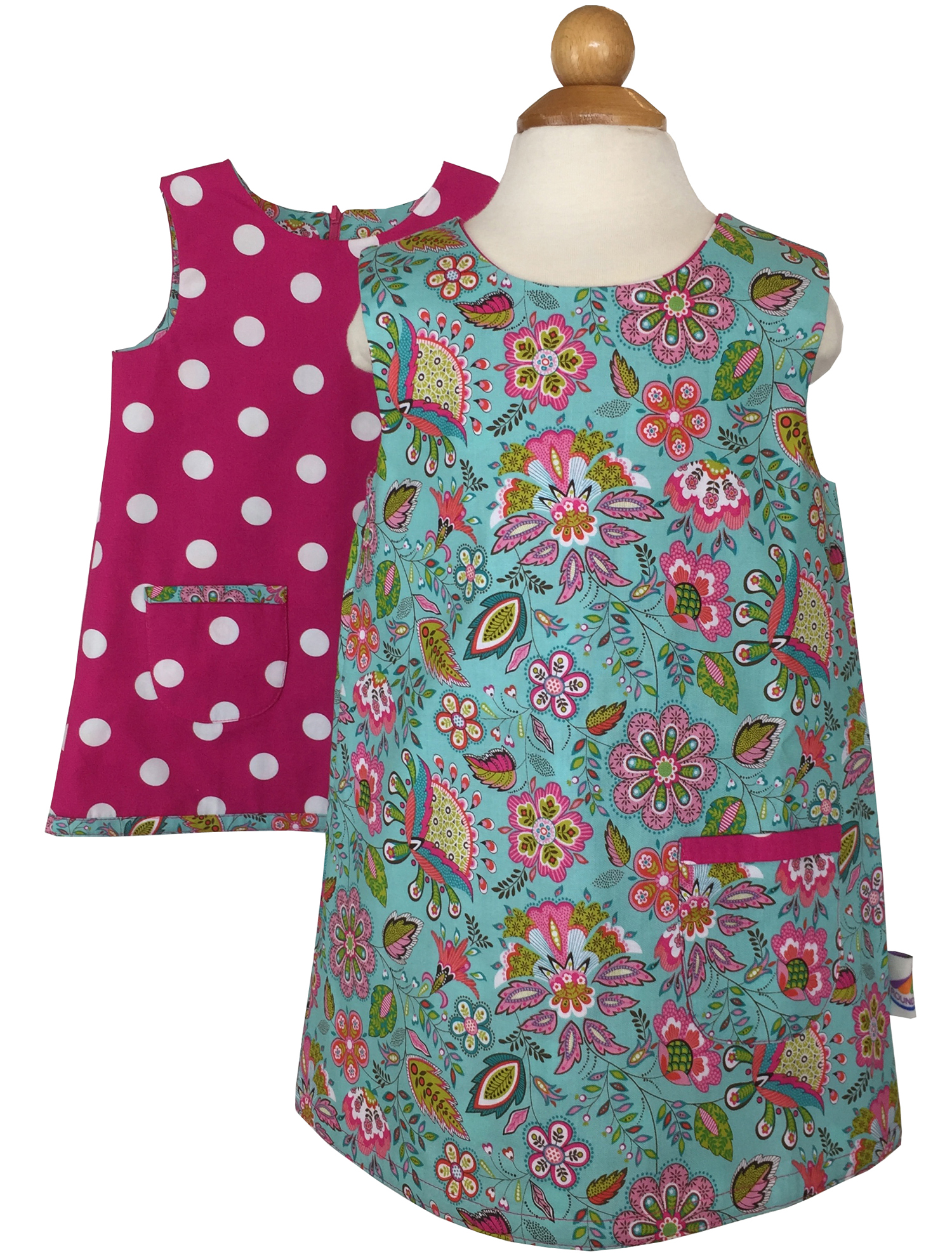 Reversible Pink 60s A-line Dress