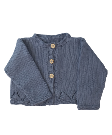 Baby and Girls blue grey cardigan