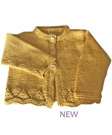 girls mustard yellow cotton cardigan