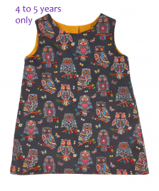 Girls corduroy owl dress