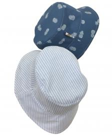 Reversible boys summer hat