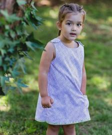Girls pink daisy dress