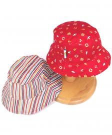 Reversible Red Ensign multi-colour stripe cotton summer hat