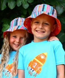 orange rocket summer hat