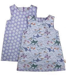 Reversible Lilac girls dinosaur dress