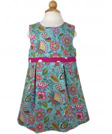 Reversible turquoise flower dress