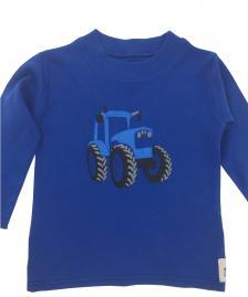 Long Sleeve Blue tractor T-Shirt