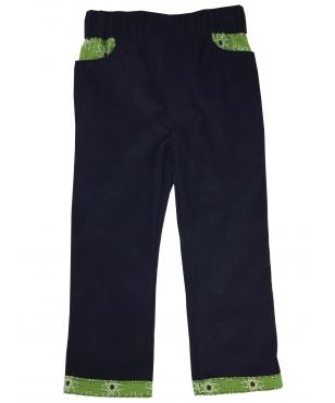 Boys and Girls Navy Corduroy Trousers