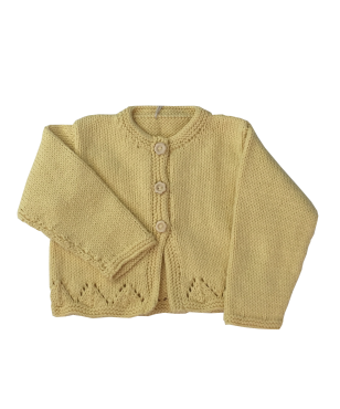 Baby and Girls yellow cardigan