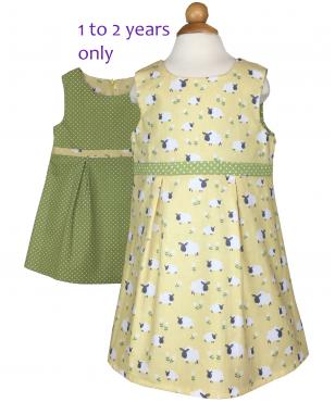 Girls yellow sheep dress