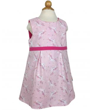 Girls pink unicorn dress