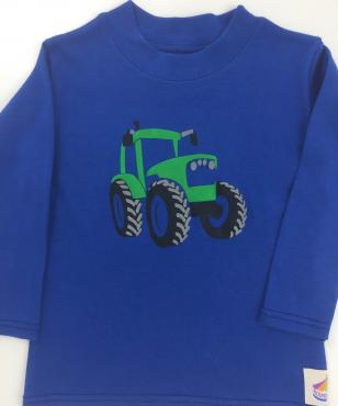 Long Sleeved Green Tractor Cotton Jersey T-Shirt