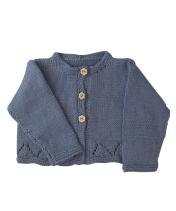 Baby and Girls blue grey cardigan
