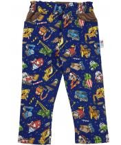 Reversible Bob Roadworks Trousers with diggers, trucks and cranes
