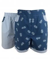 Reversible pineapple shorts