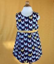 Reversible Navy/Yellow Chicken Dress