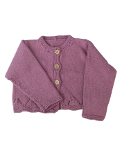 Girls Rose pink cotton cardigan