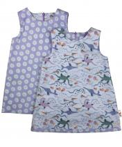 Reversible Lilac girls dinosaur dress