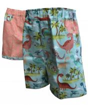 Reversible dinosaur shorts