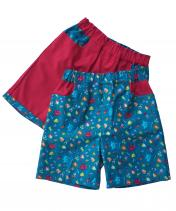 Boys shorts with knights pattern