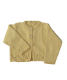 Baby and Girls yellow cardigan