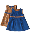 Girls blue cord dress