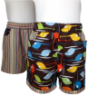 Reversible helicopter/stripe cotton summer boy girl shorts