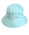 Reversible navy or light blue nautical cotton summer Polly hat