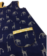 Navy blue girls reversible giraffe dress