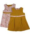 Girls mustard yellow corduroy dress