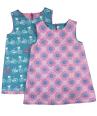 Girls reversible vintage pink aline dress